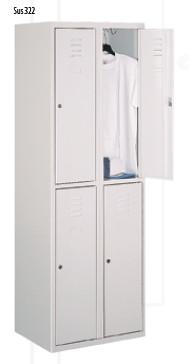 Метален гардероб Sus 322 с 4 врати
