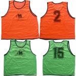 Екип за футбол/ волейбол/ хандбал, фланелка с шорти - червен с бяло и зелено MAXIMA