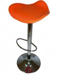 Тапициран бар стол без облегалка,оранжев