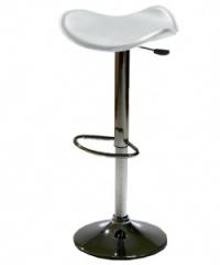 Тапициран бар стол без облегалка,бял