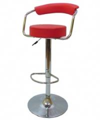 Удобен тапициран бар стол в червено