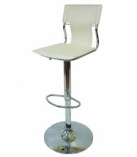 Бар стол с амортисьор в бяло