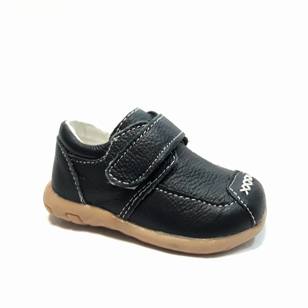 Сини кожени бебешки обувки