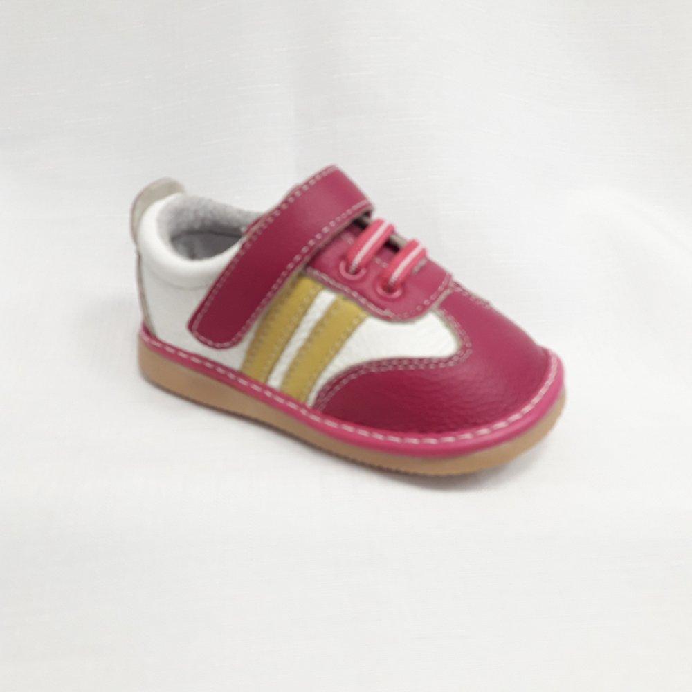 Розови бебешки маратонки от естествена кожа.