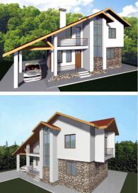 Луксозна двуетажна къща по поръчка