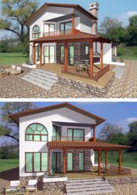 Двуетажна къща 178 м2 по индивидуален проект