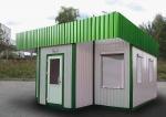 Търговски метален павилион в светло зелено и бяло - проектиране и изработка
