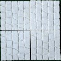 Настилка от бетон бяла