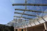 изработване на стъклен навес