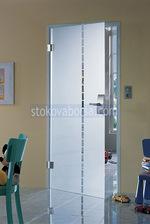 μονό φύλλο γυάλινη πόρτα