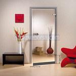 puerta de vidrio con un ala en la demanda