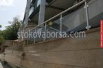 изработване на стълбищен парапет от алуминии и стъкло