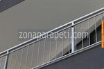 парапет за тераса от алуминии