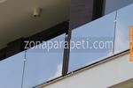 стъклен парапет за балкон по поръчка