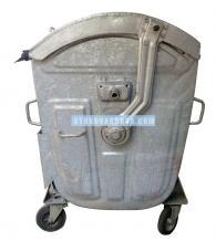 Кофа за битови отпадъци от метал тип Бобър