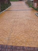 изграждане на настилки от щампован бетон