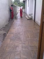Изграждане на настилки от щампован бетон по поръчка