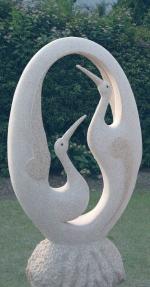 Изработка на статуя на птица по поръчка от полимер-бетон
