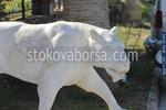 Изработка на статуи на лъвове от полимер бетон