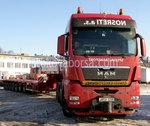 Transport von schweren Gütern und Waren