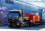 Transport von übergroßen Maschinen, Ausrüstungen und anderen Waren