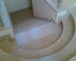 Изработка на стъпала, облицовани с варовик