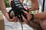 Полагане на оптични кабели