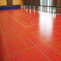 Червена настилка линолеум Linodur Sport