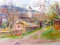 Авторска картина живопис Храм