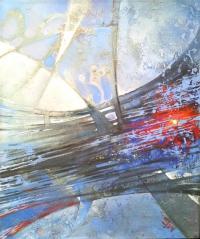 Живописна авторска картина Изгряваща звезда