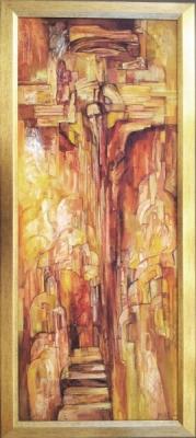 Живописна авторска картина Разпятие