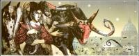 Живописна авторска картина Трофеите на Ренесанса 2