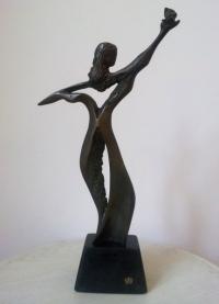 Авторска бронзова скулптура Родопа