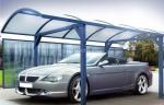 производство на навес от поликарбонат за един автомобил по-поръчка