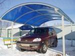 продажби изграждане на навес от поликарбонат за един автомобил