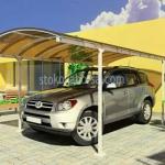 изграждане на навес от поликарбонат за един автомобил