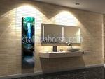 Spiegelglas Waschbecken modernen Stil Design