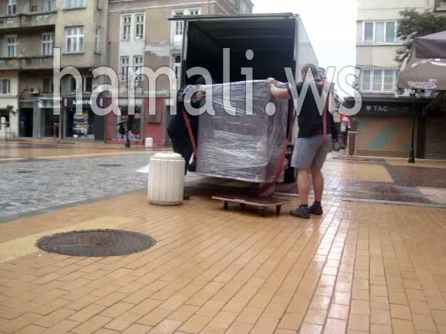 преместване на мебели с опаковане и съхранение